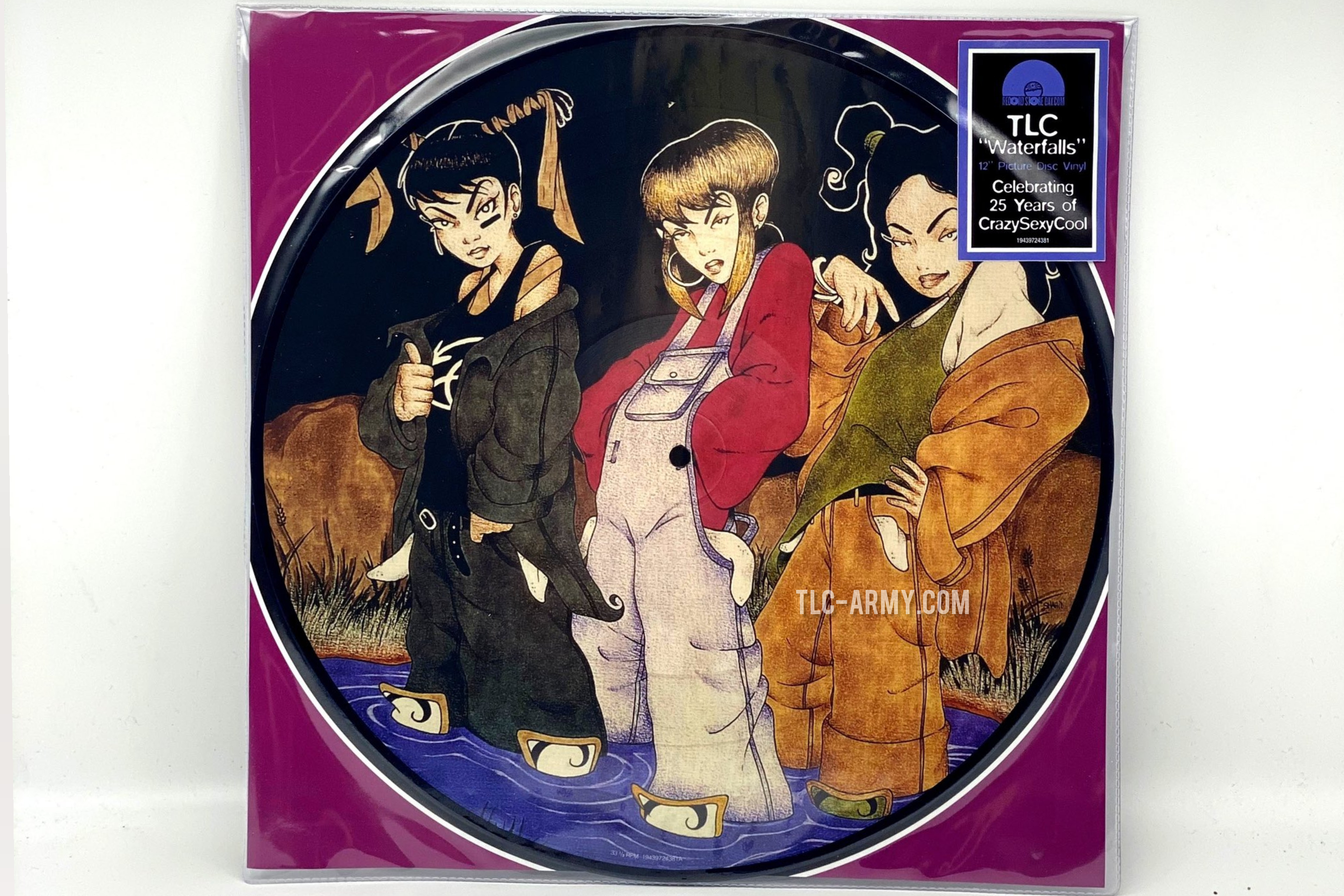 """TLC Release Limited Edition """"Waterfalls"""" Picture Vinyl For Record Store Day 2020"""
